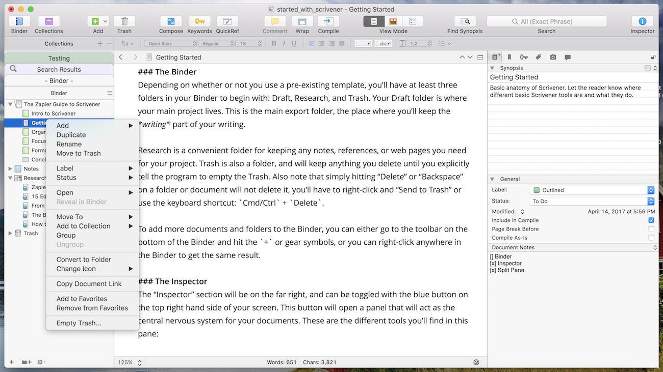 30 Days with Scrivener: Scribendi Reviews Scrivener Book Writing Software