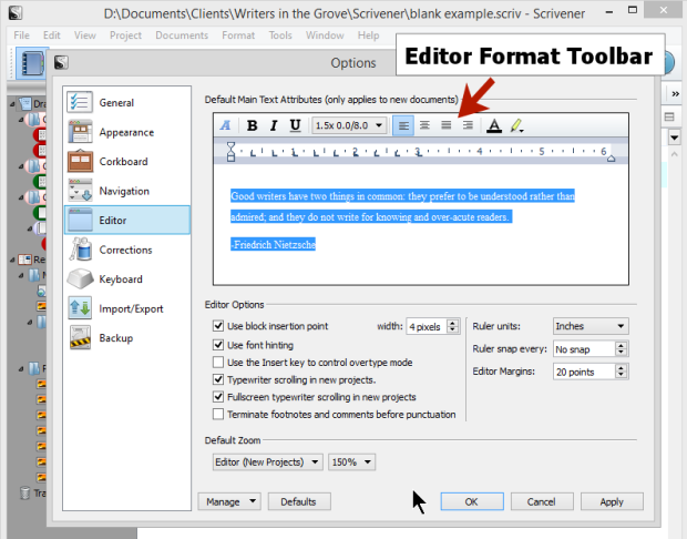the difference between files and folders scrivener s binder