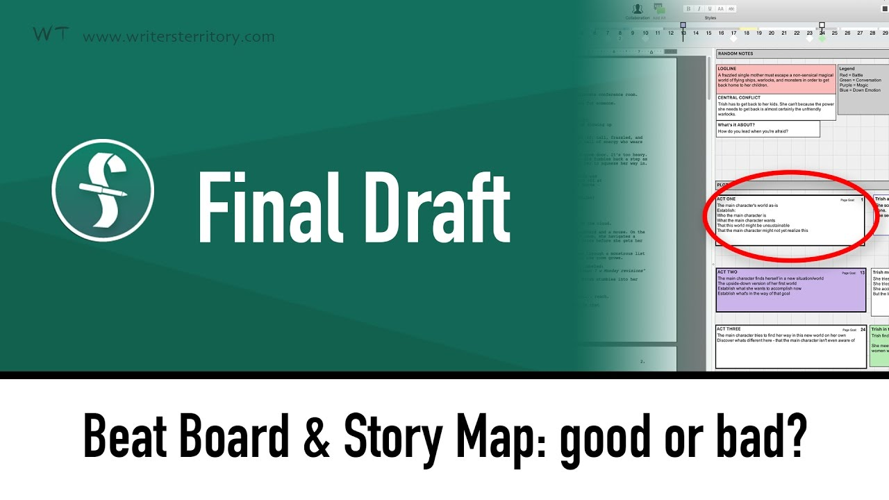 Create your beat board with final draft 10 new feature sample script and beat board final draft 10 beat board and story map good maxwellsz