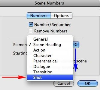 Add Scene Numbers - Automatic Scene Numbers in Final Draft 10